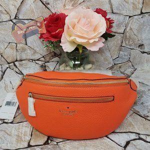 Belt Bag Pebble Leather Coral Buds Kate Spade